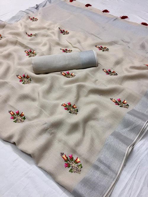 cream-colored-beautiful-embroidered-branded-linen-saree-dvz000154 (2)