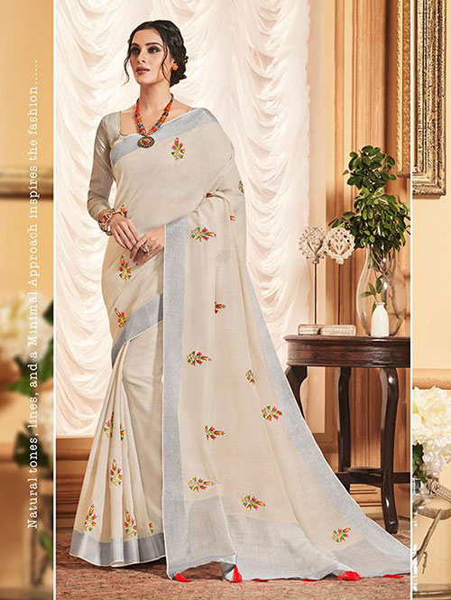 cream-colored-beautiful-embroidered-branded-linen-saree-dvz000154 (3)