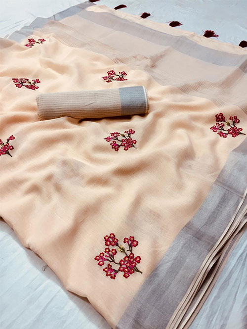 cream-colored-beautiful-embroidered-branded-linen-saree-dvz000161 (3)