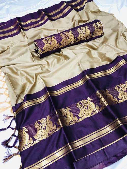 cream-colored-cotton-silk-woven-saree-dvz000116