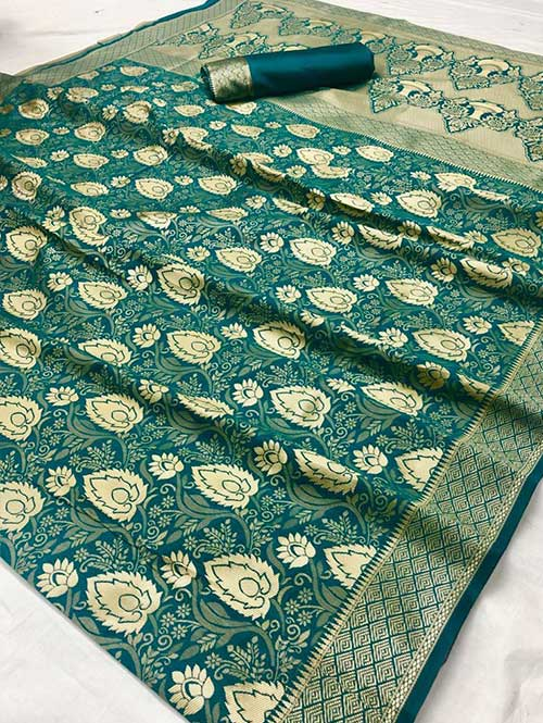 green-colored-beautiful-branded-weaving-silk-saree-dvz000204