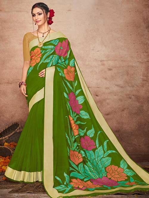 green-colored-beautiful-soft-slab-branded-saree-dvz000185 (2)