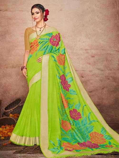 green-colored-beautiful-soft-slab-branded-saree-kashi-dvz000179 (2)
