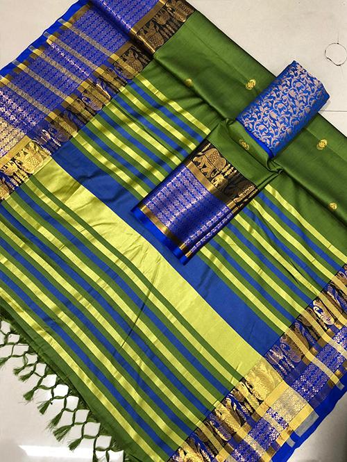 green-colored-glorious-cotton-silk-saree-dvz00054 (2)