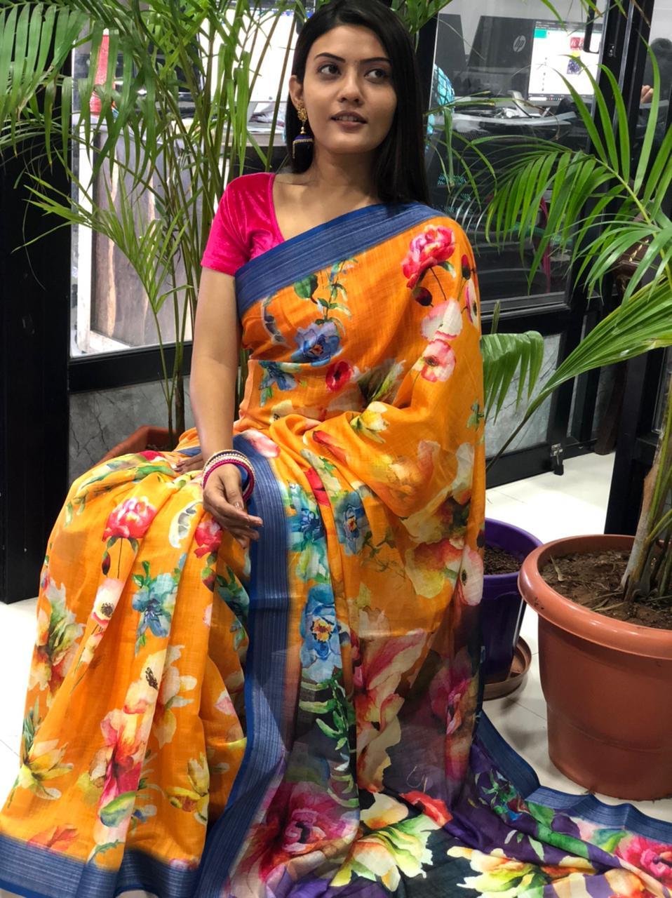 latest linen sarees with price dvz0001915