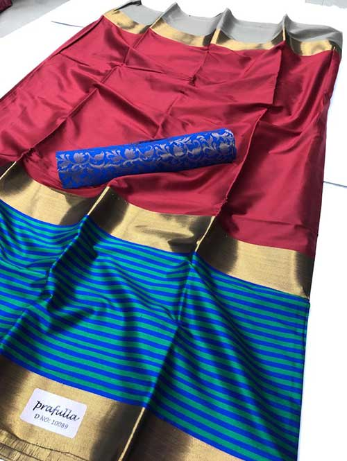 maroon-colored-beautiful-branded-cotton-silk-saree-dvz000167 (1)