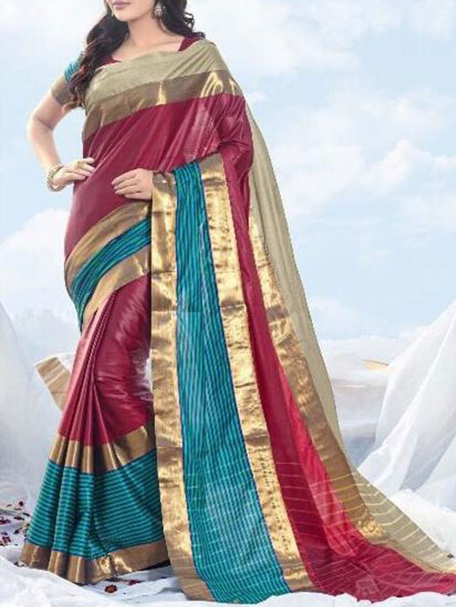 maroon-colored-beautiful-branded-cotton-silk-saree-dvz000167 (2)