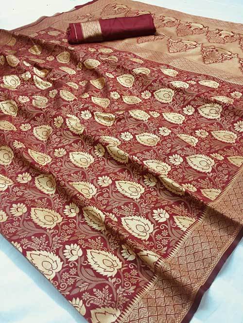 maroon-colored-beautiful-branded-weaving-silk-saree-dvz000206