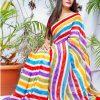 multi Color Bollywood Style Sequence work saree dvz0002128