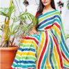 multi Color Bollywood Style Sequence work saree dvz0002129