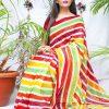 multi Color Bollywood Style Sequence work saree dvz0002134