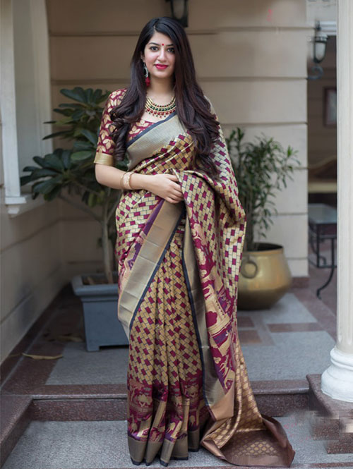 multi-colored-beautiful-branded-weaving-silk-saree-dvz000128 (2)