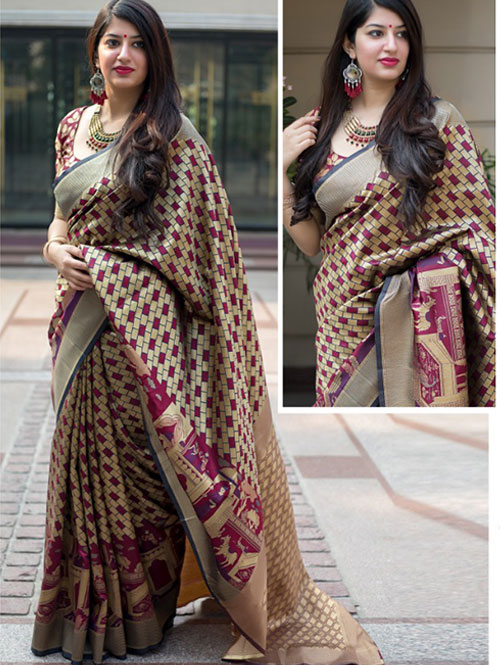 multi-colored-beautiful-branded-weaving-silk-saree-dvz000128 (3)
