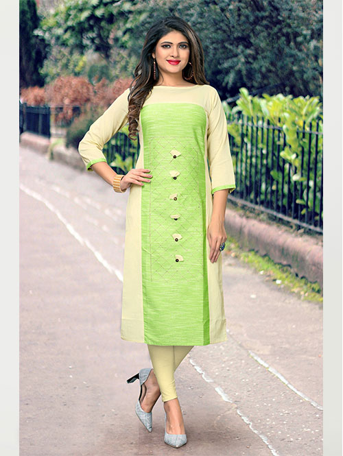 off-white-and-green-color-beautiful-embroidered-cotton-straight-kurti-dvz000235
