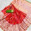 orange banarasi silk saree with weaving zari design dvz0002154
