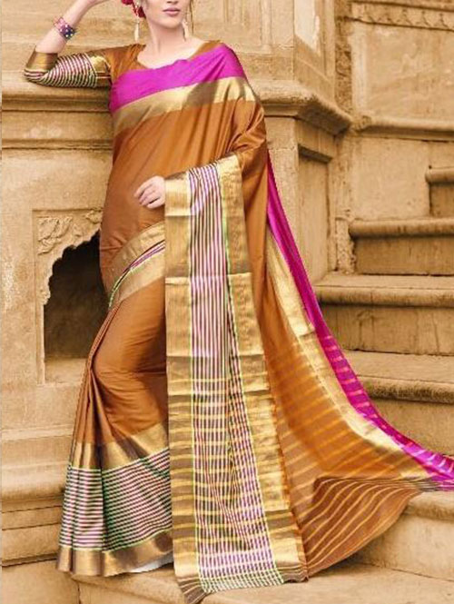 orange-colored-beautiful-branded-cotton-silk-saree-dvz000168 (2)