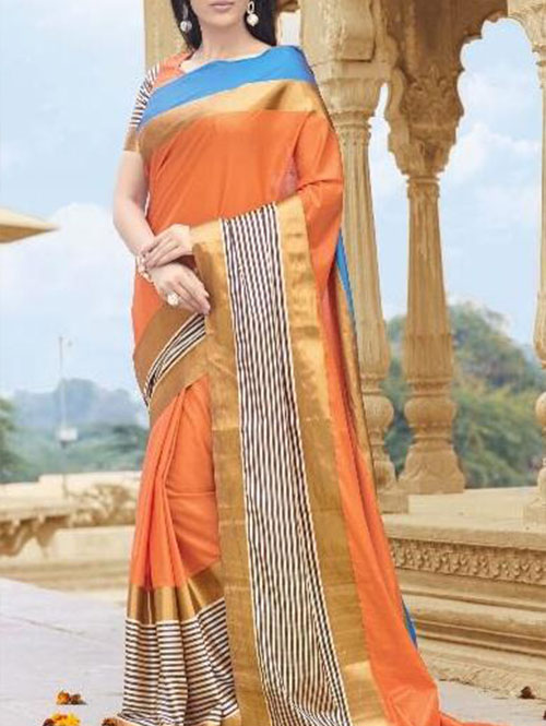 orange-colored-beautiful-branded-cotton-silk-saree-dvz000169 (2)