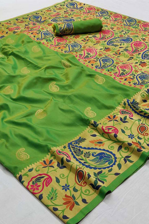 paithani silk saree blouse design dvz0001185