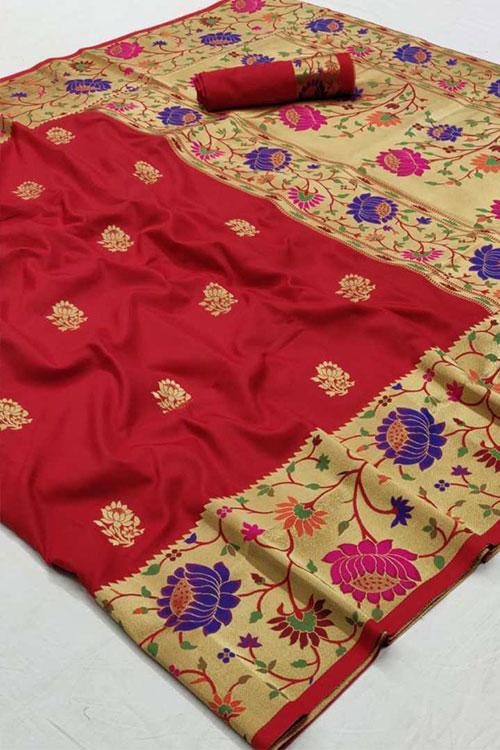 paithani silk saree blouse design dvz0001191