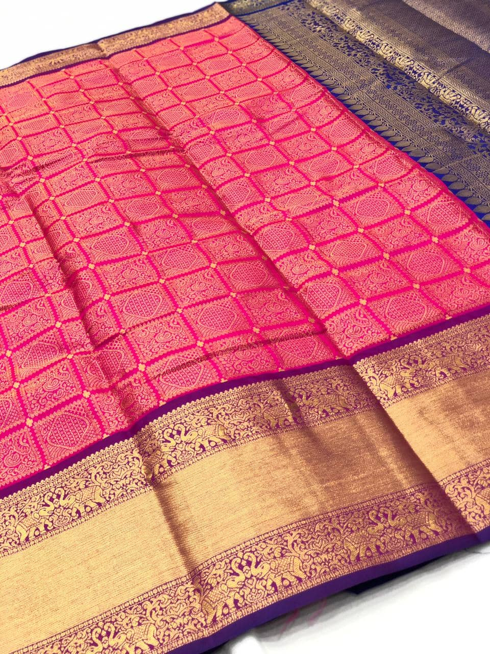 pink Kanchipuram silk saree online india dvz0001977