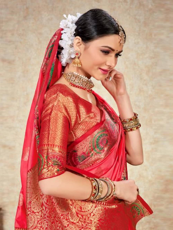 pink Soft Silk Weaving saree with Designer Border & Rich Pallu dvz0001801-2