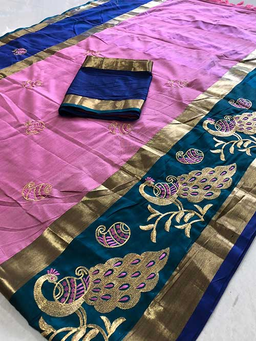 pink-color-cotton-silk-embroidery-saree-dvz000126