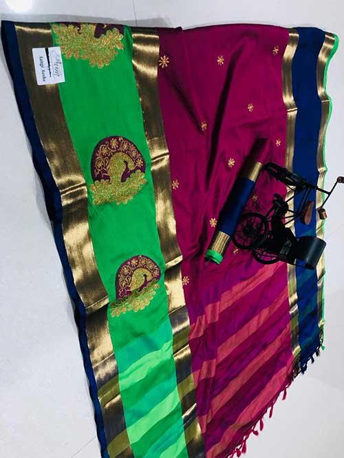pink-color-cotton-silk-embroidery-saree-dvz000200