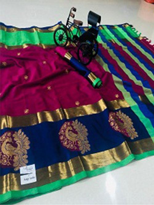 pink-color-cotton-silk-embroidery-saree-dvz000201