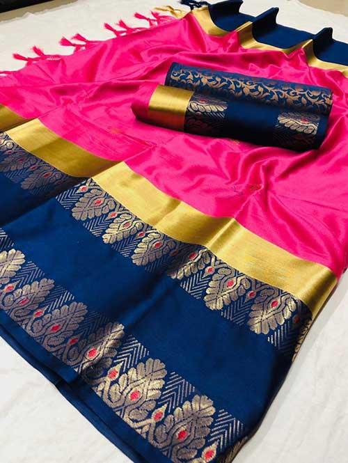 pink-colored-beautiful-branded-cotton-silk-saree-dvz000152 (1)