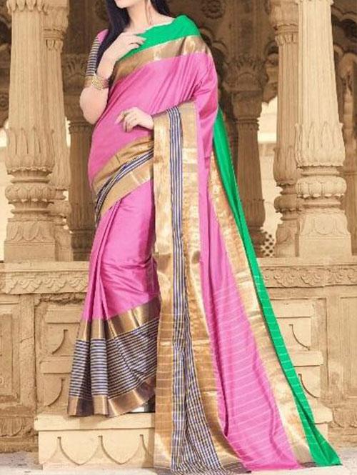 pink-colored-beautiful-branded-cotton-silk-saree-dvz000170 (2)