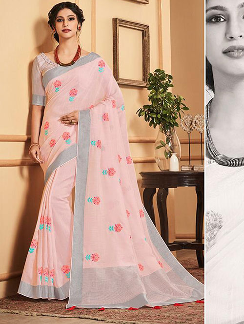 pink-colored-beautiful-embroidered-branded-linen-saree-dvz000156 (3)