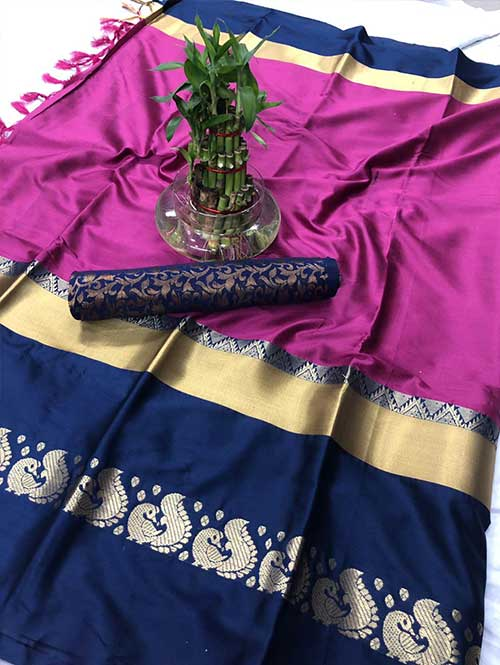 pink-colored-cotton-silk-saree-dvz00031