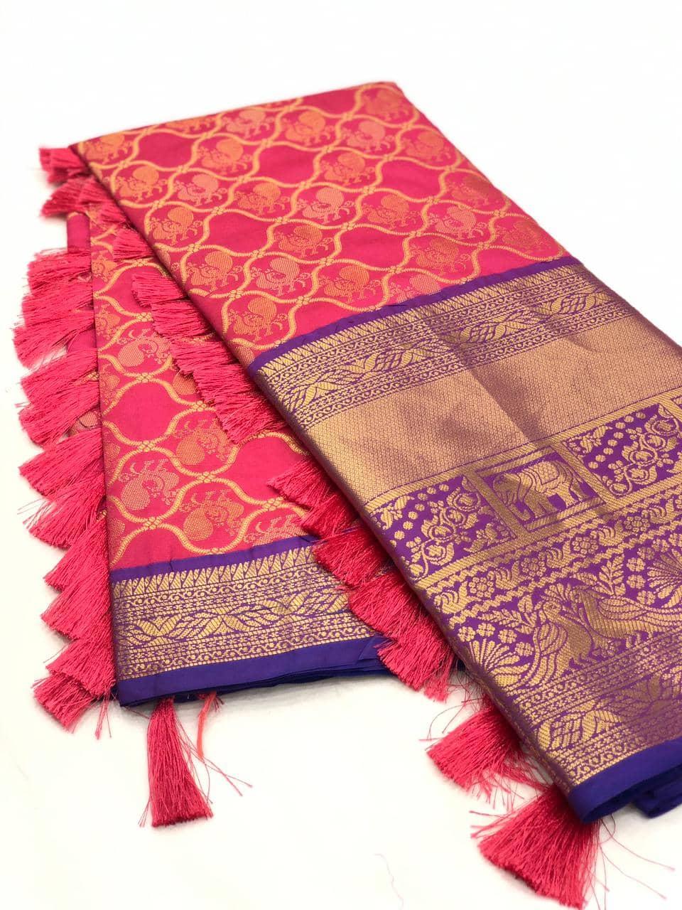 pink kanjeevaram silk sarees online shopping dvz0001997