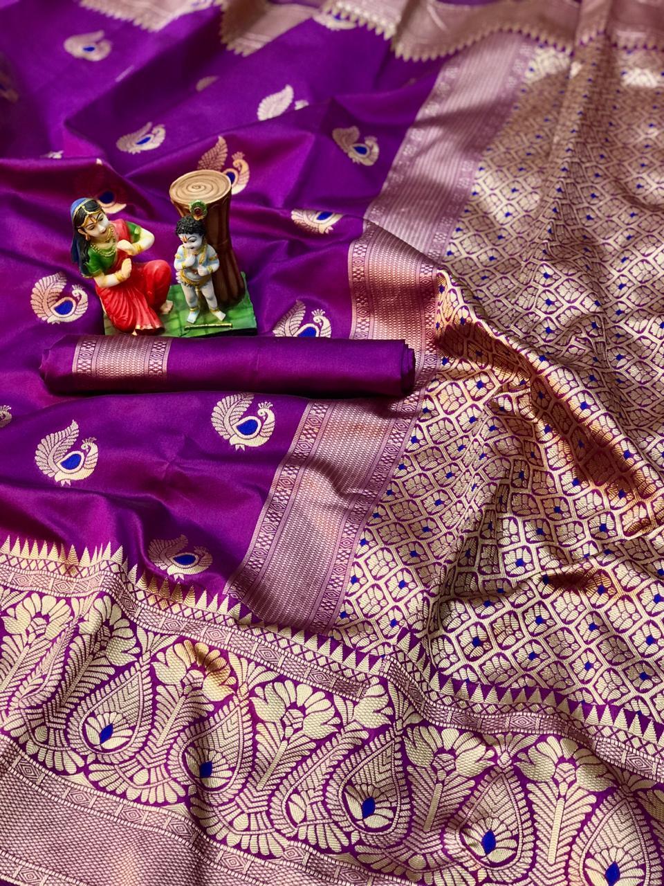 pink soft banarasi silk saree with weaving saree dvz0002003