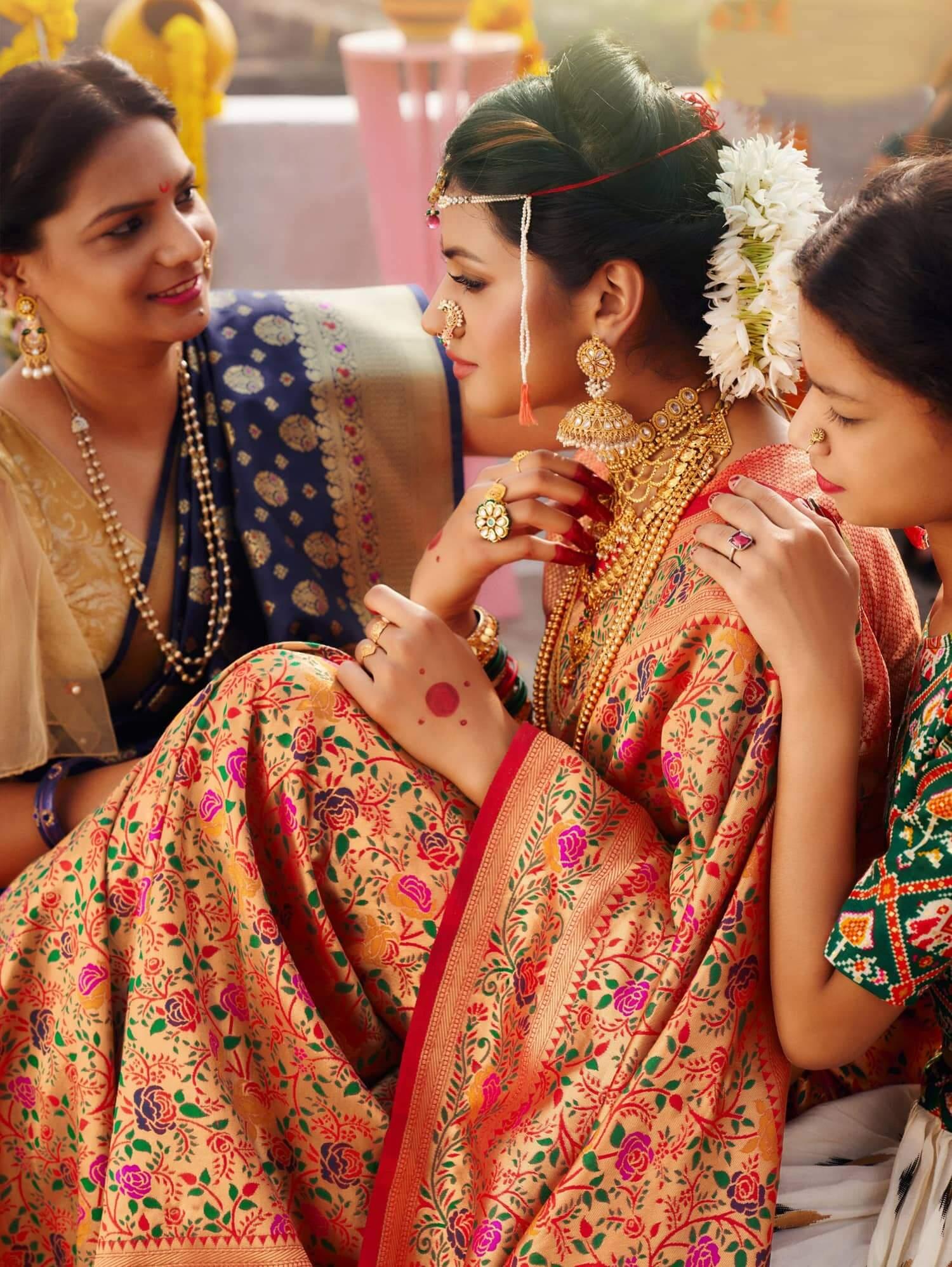 Pure Kanchipuram Silk Bridal Saree dvz0002467
