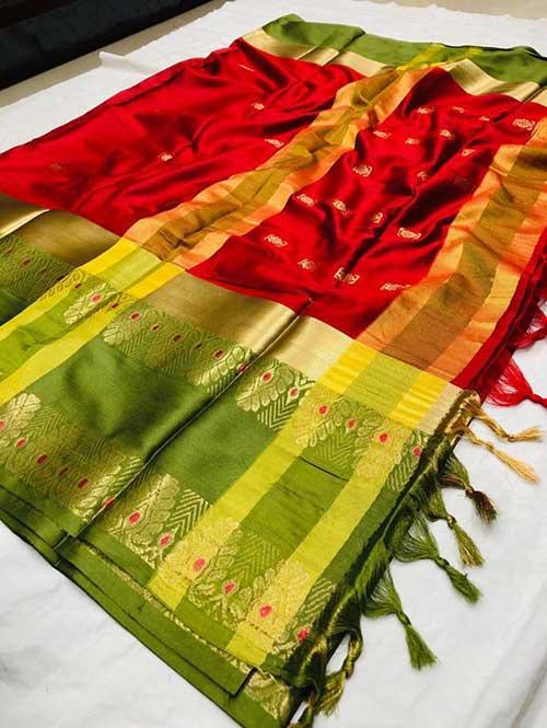 red-colored-beautiful-branded-cotton-silk-saree-dvz000150 (1)