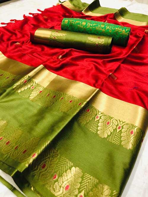 red-colored-beautiful-branded-cotton-silk-saree-dvz000150 (2)