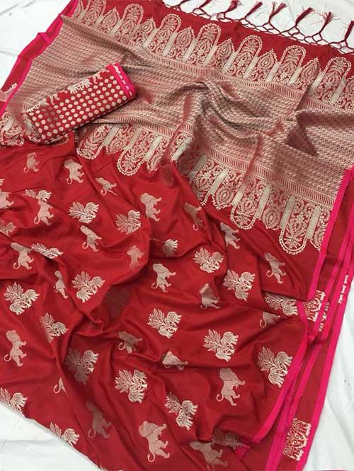 red-colored-beautiful-soft-silk-saree-dvz000139