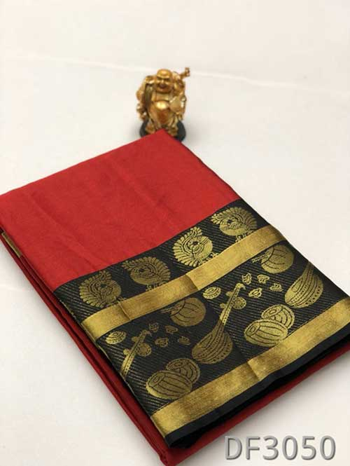 red-colored-kanjivaram-artsilk-saree-with-tabla-design-dvz00071