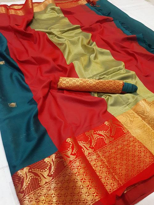 sea-green-colored-cotton-silk-woven-saree-maahiya-dvz00092