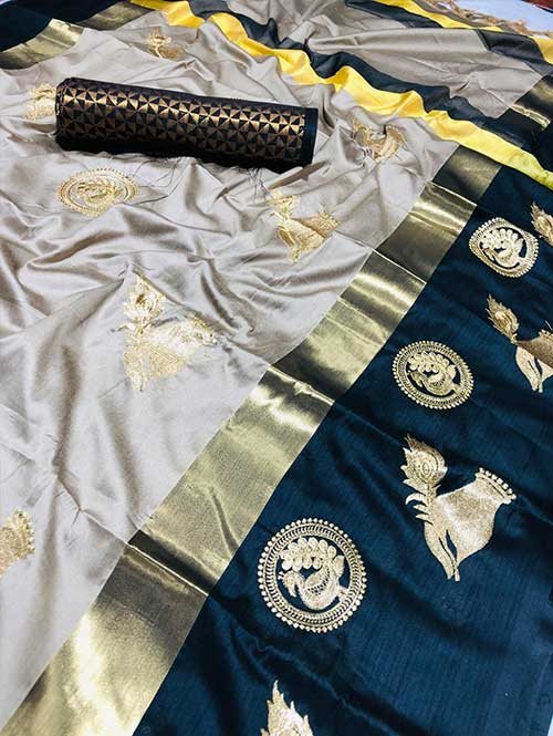 silver-colored-beautiful-embroidered-cotton-silk-saree-dvz00018
