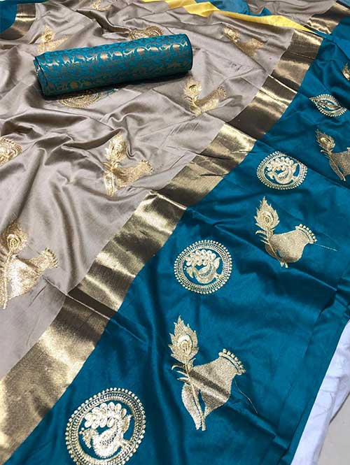 silver-colored-beautiful-embroidered-cotton-silk-saree-dvz00019