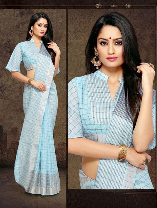 sky-colored-checkered-linen-saree-with-zari-border-dvz000114 (2)