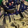 soft banarasi lichi silk saree in blue dvz0002060 - soft silk sarees online shopping with price (1)
