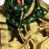 soft banarasi lichi silk saree in green dvz0002062 - soft silk sarees online shopping with price