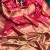 soft banarasi lichi silk saree in pink dvz0002065 - soft silk sarees online shopping with price