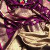 soft banarasi lichi silk saree in purple dvz0002064 - soft silk sarees online shopping with price