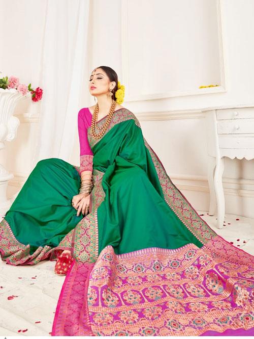 soft silk weaving saree (Green) dvz0001304