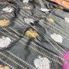 stunning Kanchipuram saree with Golden and sliver zari (Black) dvz0001344