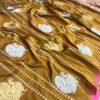 stunning Kanchipuram saree with Golden and sliver zari (Mustard) dvz0001349